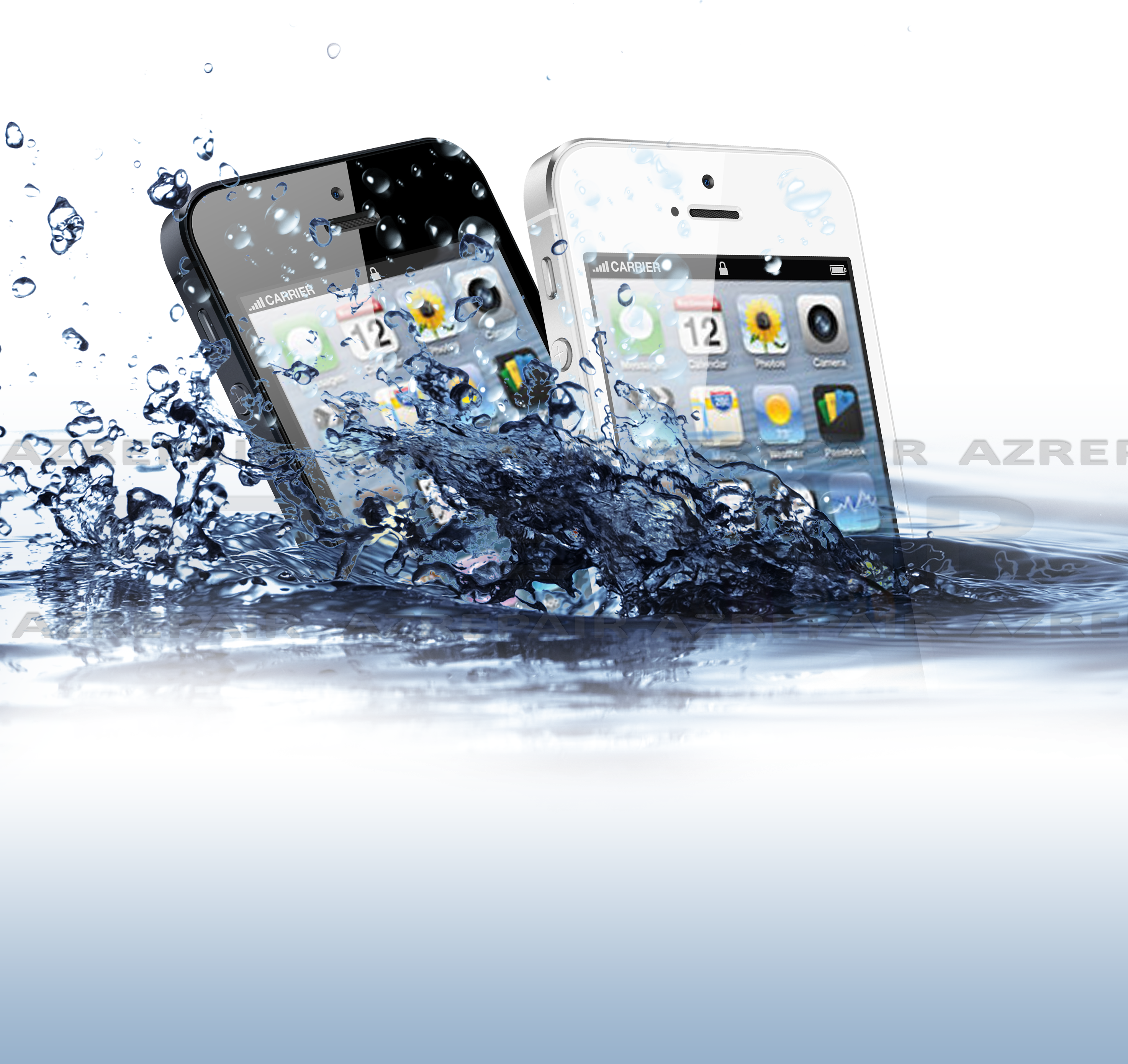 iPhone 5 R�paration, d�soxydation d'un iPhone 5 tomb� dans l'eau